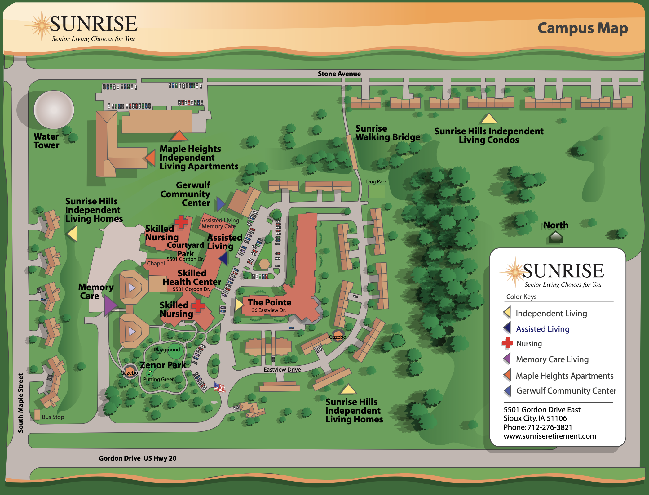 sunrise campus map